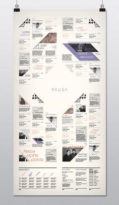 PAUSA / Programático - Desplegable by Belén Bartolo, via Behance