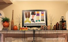 Interior Halloween Decorating Ideas www.ArtandSoulLiving.com