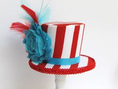 Mini Top Hat Headband Dr Seuss Alice in by TrulySweetCircus, $19.95 maybe to put on a shelf for decor?