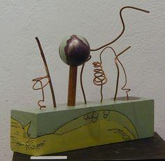 'Sculpture #1'  mixed media adjustable art  Steve Zihlavsky