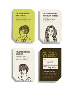 Off-beat business cards, I love these!