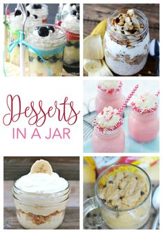Who doesn't adore desserts in a jar? As if getting to eat dessert isn't sweet enough, a glass jar in hand makes the experience way more fun. From red velvet milkshakes to lemon blueberry angel food cake, these treats are itty bitty, yummy, and totally pinnable. Enjoy!