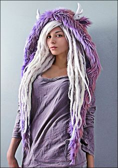 long,white wool dreads   www.doctoredlocks.com