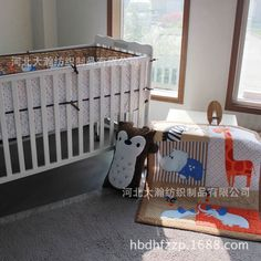 66.70$  Watch now - http://alimpb.worldwells.pw/go.php?t=32672950005 - Promotion! 3PCS Embroidery baby bed bumpers baby cot set baby crib bumper kids crib bumper ,include:(bumper+duvet+bed cover) 66.70$