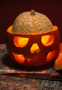 ☆ Brain Skull Pumpkin ☆