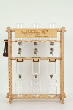 Dutch C1200 Dutch Coffee Maker Vingtage Wood Design Made in Korea