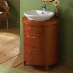 powder room sink Single Sink Bathroom Vanity, Bathroom Fixtures, Bathroom Vanities, Wood Vanity, Bathroom Storage, Powder Room, Toilet, Basin, Personality