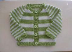 Ravelry: Plain or Striped Baby Classic Cardigan pattern by Glenwell Associates Ltd. Baby Cardigan Knitting Pattern Free, Baby Boy Knitting, Knitted Baby Cardigan, Knit Baby Sweaters, Cardigan Pattern, Knitting For Kids, Baby Knitting Patterns, Baby Patterns, Baby Boy Cardigan
