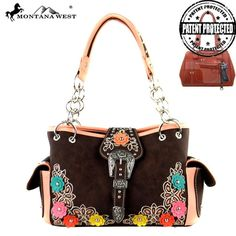 Montana West Concealed Carry Handgun Coffee Purse Handbag CCW Floral Cowgirl #MontanaWest #ShoulderBag