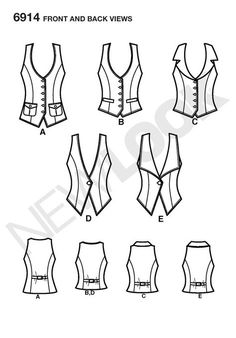 New Look 6914 Misses' Lined Vest