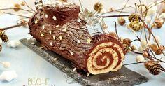 Bûche de Noël roulée traditionnelle au chocolat {facile et rapide} avec recette et vidéo explicative
