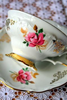 Beautiful Teacup & Saucer