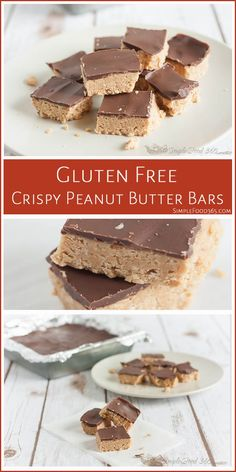 Made in minutes and chilled briefly, you can make these peanut buttery bars this morning and they'll be ready for dessert. | SimpleFood365.com