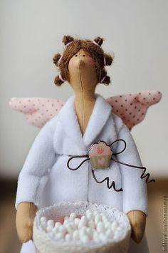 Купить Банная фея. - тильда, банный ангел, банная, хранительница, ванная, подарок горошек, хлопок
