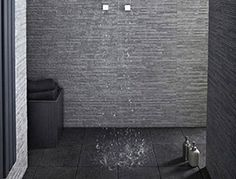 En suite wet room on pinterest topps tiles narrow for Slate wet room