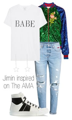 """""""Jimin inspired"""" by tugba-bulut-1 on Polyvore featuring Gucci and AMIRI"""