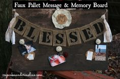 Faux Pallet Message Center/Memory Board | Cupcakes and Crinoline