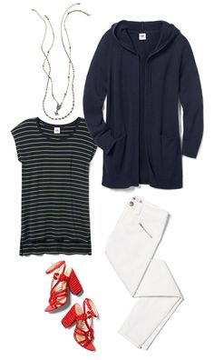 Check out five unique ways to mix and match the Newport Hoodie with other cabi items!