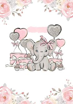 6 Best Ideas for Recycled Craft Projects Baby Elephant Drawing, Baby Animal Drawings, Elephant Love, Cute Drawings, Baby Clip Art, Baby Art, Elephant Party, Baby Posters, Baby Frame