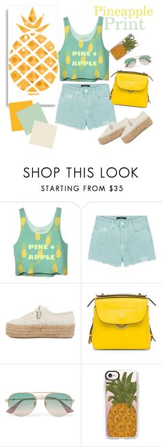 """""""PINEAPPLE Prints"""" by shosho-mahmmod ❤ liked on Polyvore featuring J Brand, Superga, Fendi, Gucci, Casetify, trending, print, trend and pineapples"""
