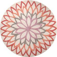 Lotus Flower vloerkleed 200cm x 200cm oranje - Esprit