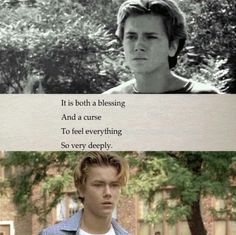 """River Phoenix ~ """"It is both a blessing And a curse To feel everything  So very deeply."""""""