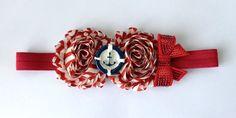 Anchor  Sailor Shabby Flower Headband  Hair by AddieLuBowtique, $9.00