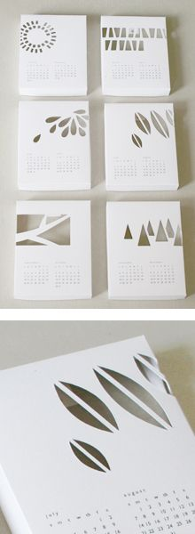 Great 3D calendars    Layers - Cut through design to see designs underneath