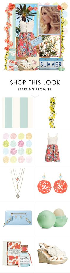 """A Summer Breeze >>>"" by cupcakecouturegirls ❤ liked on Polyvore featuring Polaroid, Aéropostale, Kenneth Jay Lane, Balenciaga, Eos, Library of Flowers and H&M"