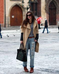 Boyfriend Jean with Winter Coat