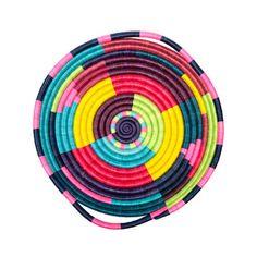 Woven Basket Tray - Rainbow