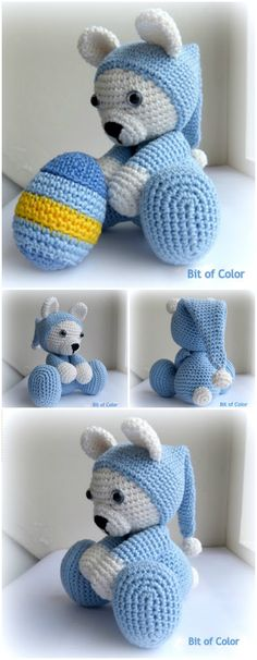 Here we have shared a grand list of free crochet amigurumi patterns that all makes perfect cuddly toys and can also be used as best lovey to your babies!Crochet Bear in Nightdress