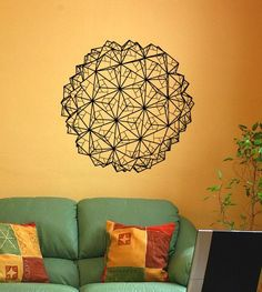 Geometric Origami Vinyl Wall Decal. $30.00, via Etsy.