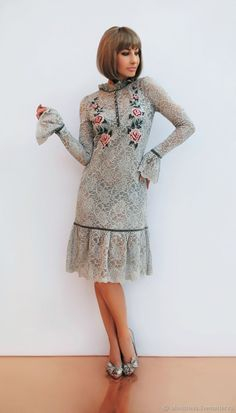 Купить Роскошное и элегантное гипюровое платье