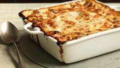 The ultimate homemade lasagne, made with both beef and pork. Delicious.