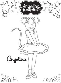 Angelina Ballerina op kleurplatenenzo.nl