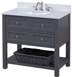 "New Yorker 36"" Single Bathroom Vanity Set"