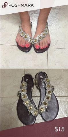 491ebea434781 HostPick Fibi Clo size 6 Cascade gold bling sandal Fibi Clo cascade gold  bling sandal gently used