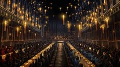 Harry Potter Hogwarts Dining Hall Candles Church Backdrop for Photography Picture Seamless Photo Background Polyester Custom Photo Studio Backdrops Backgrounds Banner
