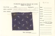 Geometric print on cotton.Unknown manufacturer. January 27, 1887.