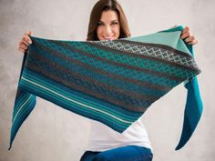 A multicolored mosaic scarf that's easier to make than it looks!