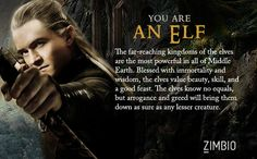 Lord Of The Rings Personality Quiz - I am an Elf! Awesomeness.