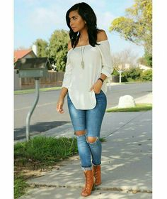Classy outfits, everyday casual outfits, cute outfits with jeans, blue jean Everyday Casual Outfits, Classy Outfits, Sexy Outfits, Fashion Outfits, Fashion Trends, Fashion Ideas, Fall Winter Outfits, Spring Outfits, Look Fashion