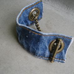 Denim Cuff Bracelet -     $25.00, via Etsy.