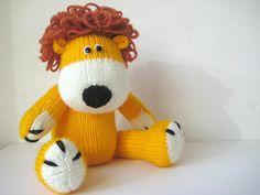 Samson le Lion modèle jouet à tricoter