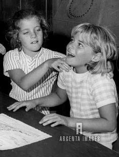 Caroline Kennedy with her cousin Sydney Lawford