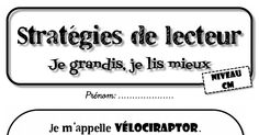 Fichier d'exercices Vélociraptor CM.pdf Cycle 3, Teacher, Math Equations, School Projects, Dyslexia, Classroom, Reading, Texts, Daughters