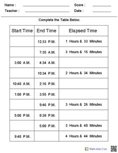 11 Best Images of Telling Time Worksheets Grade - Grade Elapsed Time Worksheets, Grade Math Worksheets Time and Table Elapsed Time Worksheets Learn To Tell Time, Math Measurement, Fourth Grade Math, Homeschool Math, Homeschooling, Math Resources, 4th Grade Math Worksheets, Teaching Math, Teaching Geography