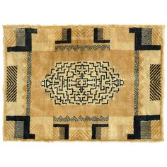 French Art Deco Rug Circa 1930 | From a unique collection of antique and modern more carpets at http://www.1stdibs.com/furniture/rugs-carpets/area-rugs-carpets/