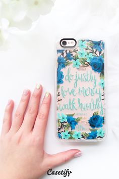 Do justly, love mercy, walk humbly. Click through to see more iPhone 6 case designs by @frnchprssmrnngs >>> https://www.casetify.com/frenchpressmornings/collection | @casetify